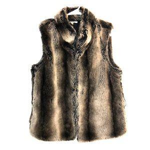 Kenar Faux Fur 70% cashmere vest